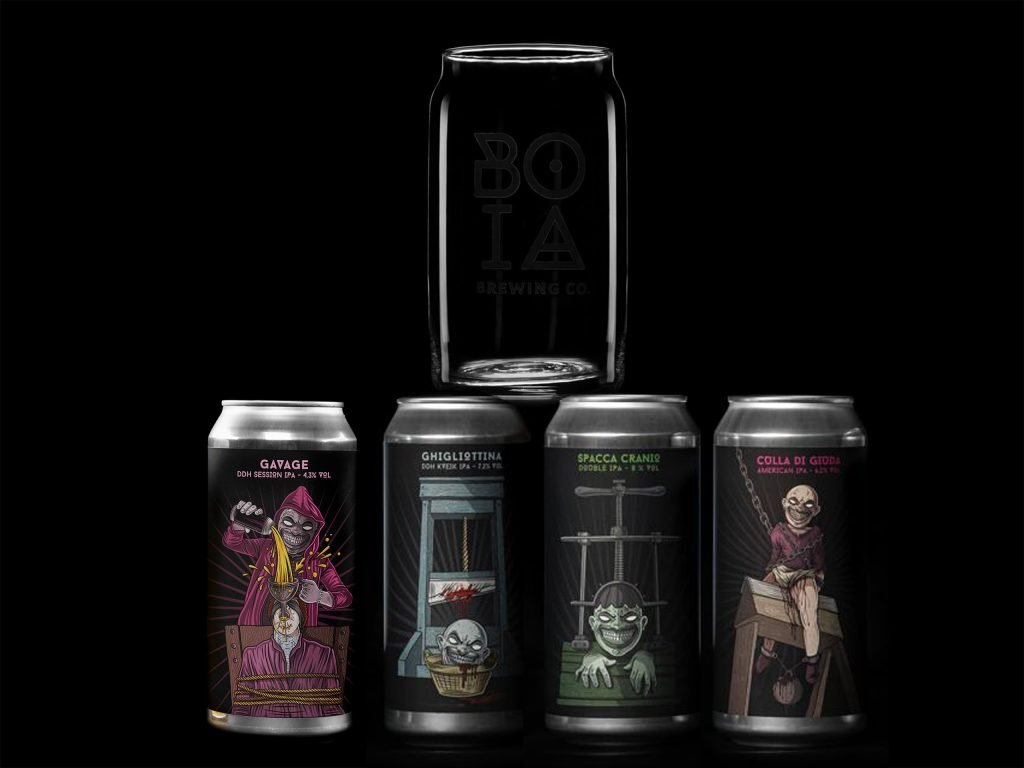 pack4+1bicchiere boia brewing